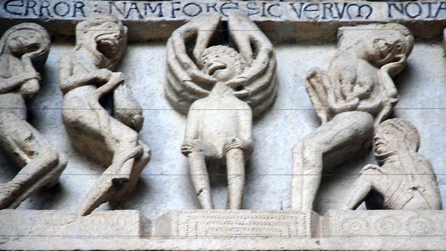 damned lintel last judgment tympanum central portal west facade cath drale st lazare autun. Black Bedroom Furniture Sets. Home Design Ideas