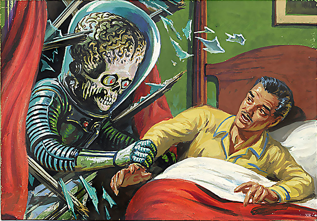 1962  Night Abduction - Mars Attacks  Artists- Wally -8035