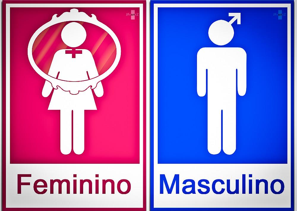 Placa Banheiro WC  Feminino e Masculino Placa Banheiro WC  The Frantz  Flickr -> Banheiro Feminino E Masculino Placa