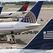 US Airways, United Airlines (2x), Delta Airlines (3x) and KLM Asia