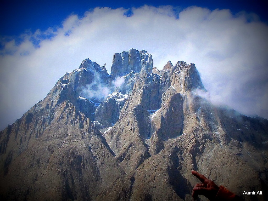 cathedral peak  baltoro glacier  pakistan