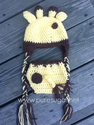giraffe baby set - back | by pure.sugar