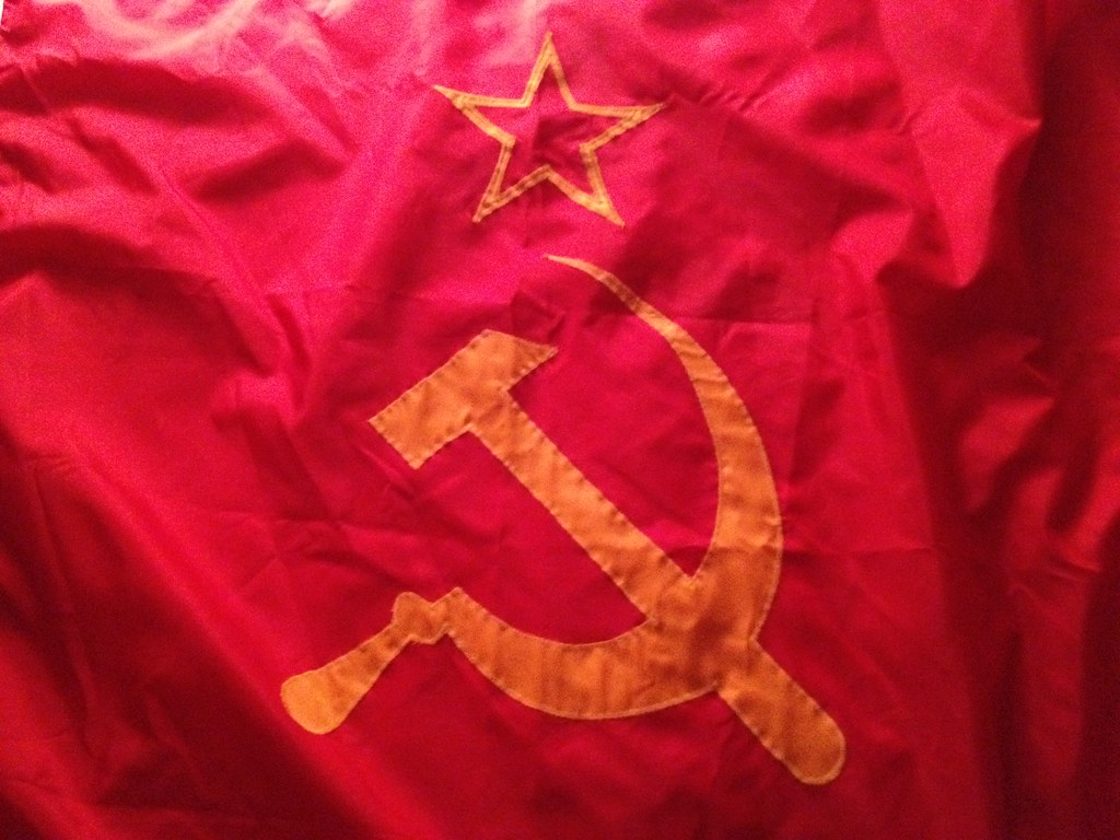 Ussr Flag Black And White Soviet Flag (USSR) - D...