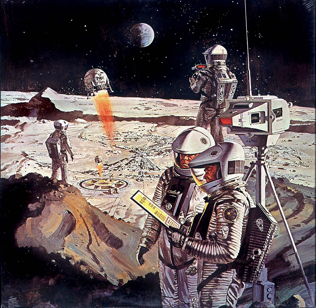 We Go To The Moon Quot Space Art Of Robert Mccall Flickr