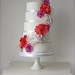 Doily Flower Wedding Cake