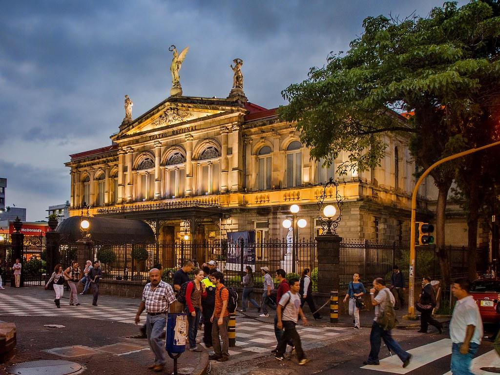 Teatro Nacional in San Jose, Costa Rica: example of colonial architecture