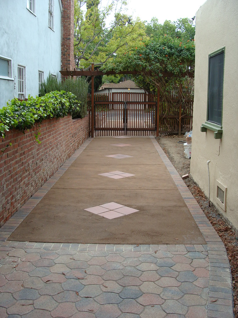 New Driveway Pavers And Perveated Concrete Reused Leftov