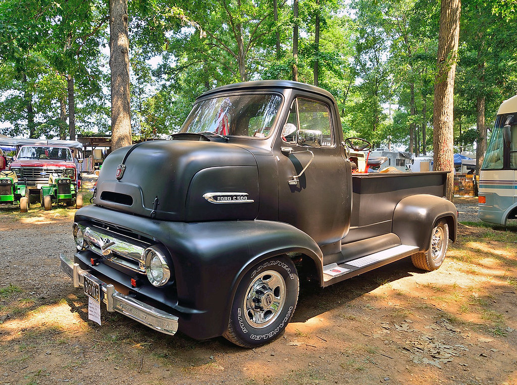 Ford Dump Truck Parts 1954 Ford C500 cabover pickup | At the 2012 Southeast Old Th ...