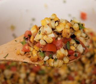 Charred Corn Salad | by the boastful baker