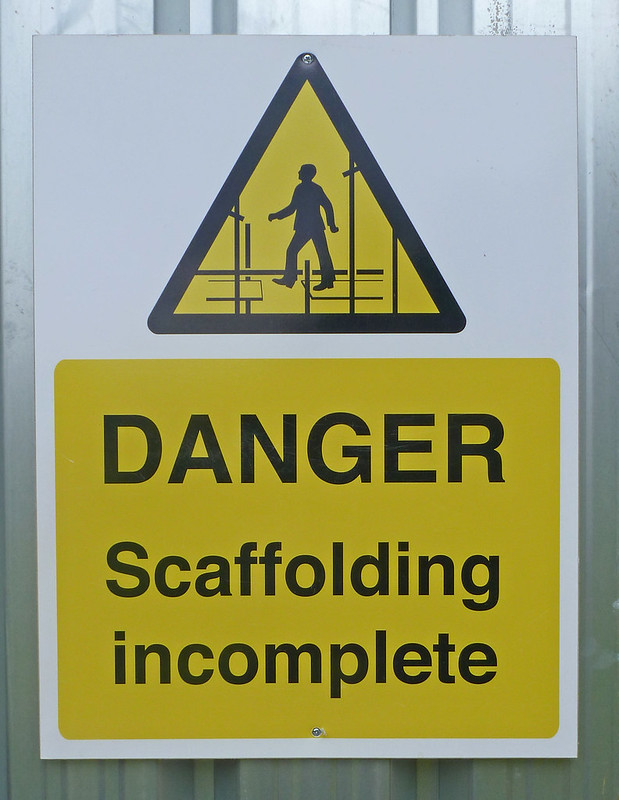 warning: scaffolding incomplete sign