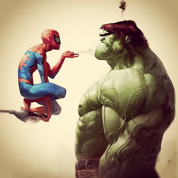 Hulk vs spiderman, hulk vs spider-man, epic battle, spiderman vs hulk, spider-man vs hulk, spiderman attacks hulk