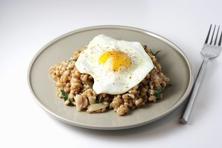 Bacon and Egg Farro Risotto | by esimpraim