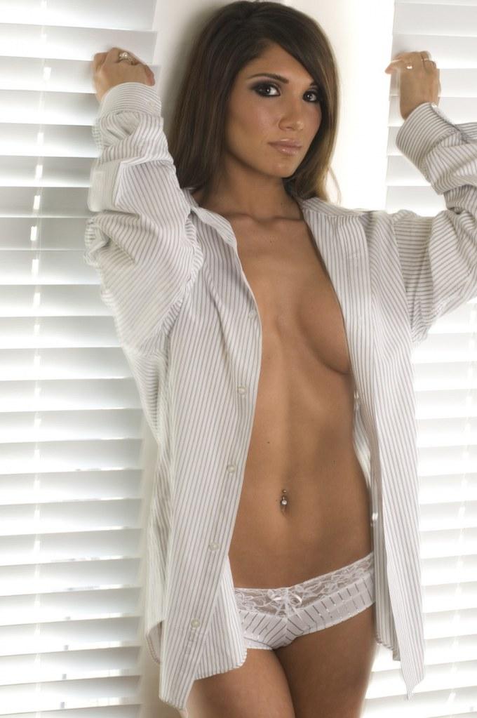 Naked woman men s shirt white advise you
