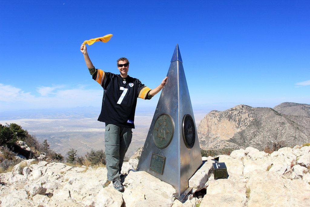 Steelers Nation in Highpoint of Texas | Guadalupe Peak Trail ...