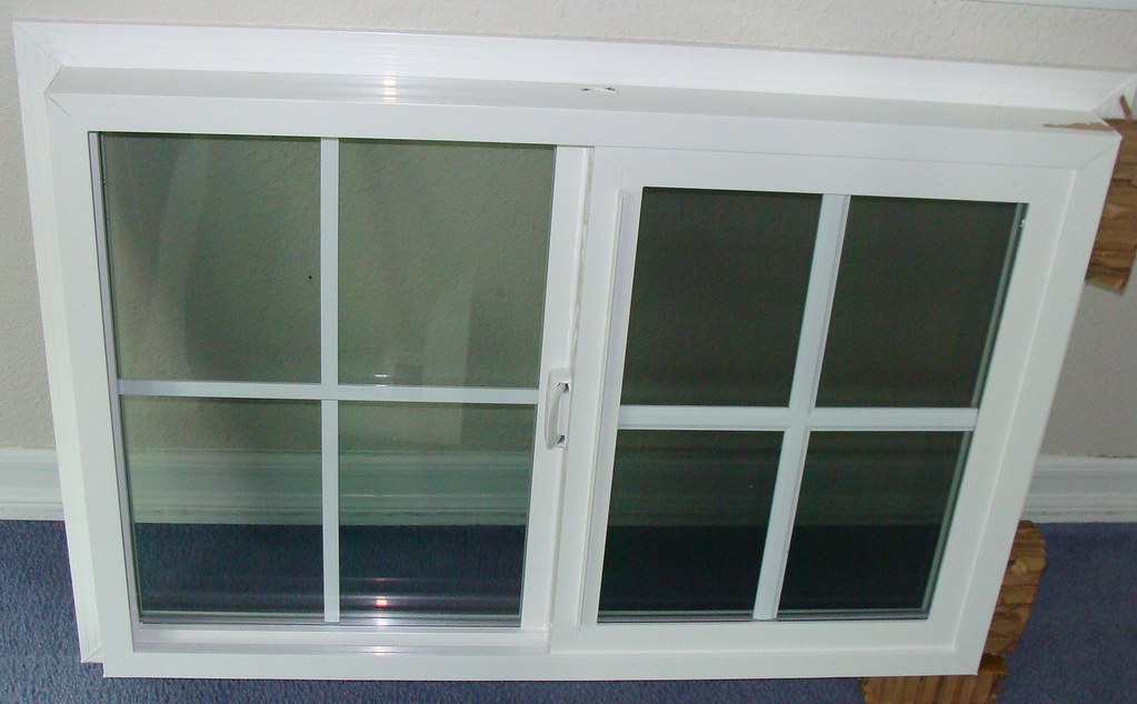 Vinyl slider window with grid 2 vinyl slider window for Milgard vinyl windows
