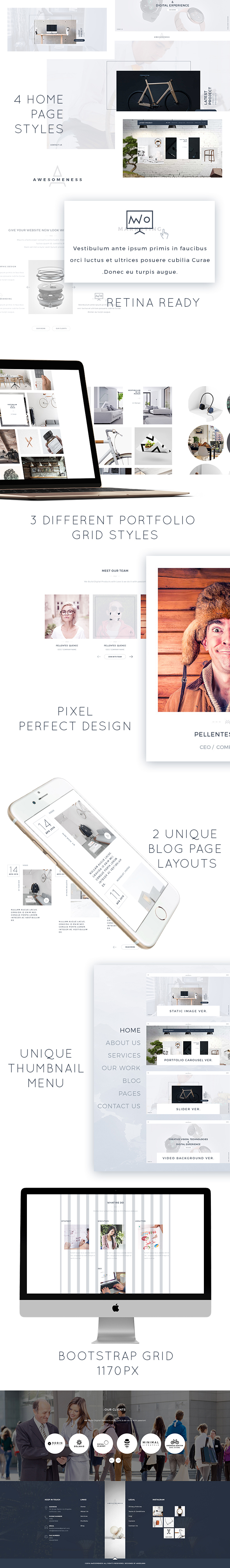 Awesomeness - Agency & Portfolio responsvie HTML Template