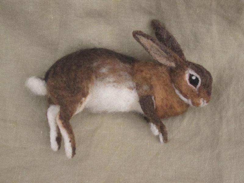 Needle Felted Mini Rex Rabbit | Hannah | Flickr