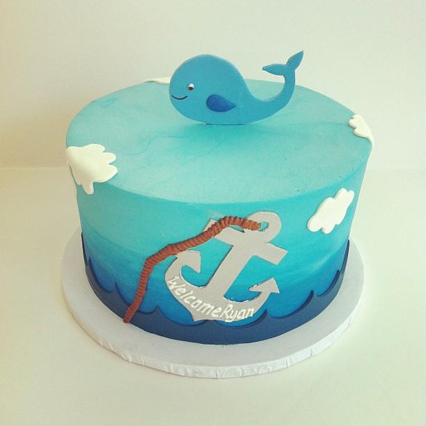 whale baby shower cake customcake austin polkadots olga
