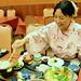 woman eat Japanese cuisine