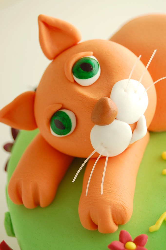 Emma's Kitty Cat Birthday Cake - Cat face | CharmChang ...