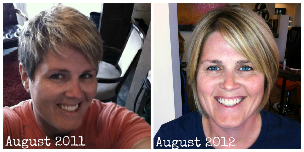 Project Pixie Cut, One Year Later Before and After | Flickr