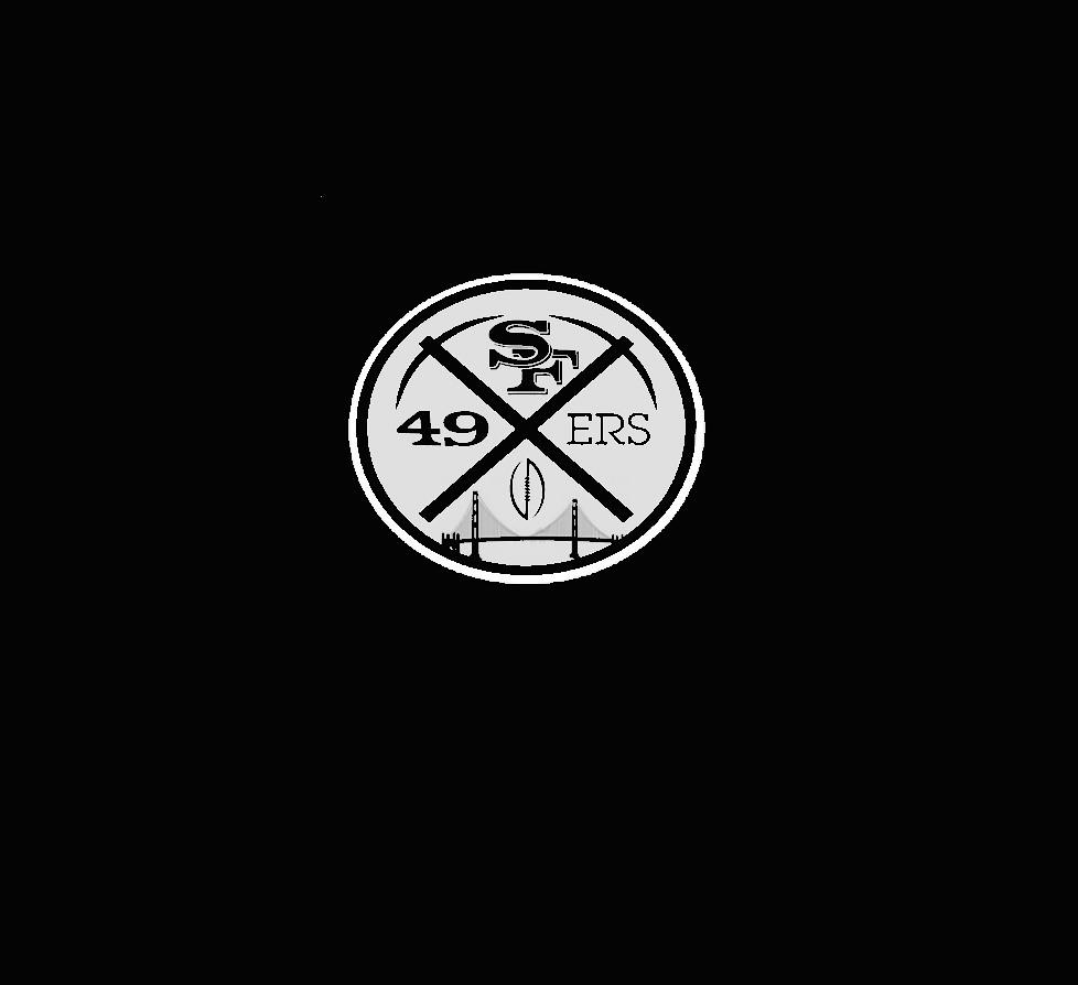 49ers logo white black | Charles Sollars | Flickr