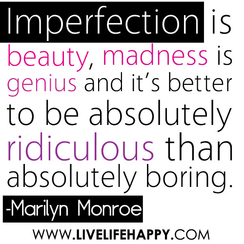 how to live with imperfection