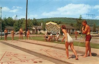 Shuffleboard at Fernwood in the Pocono Mountains Bushkill PA | by Edge and corner wear