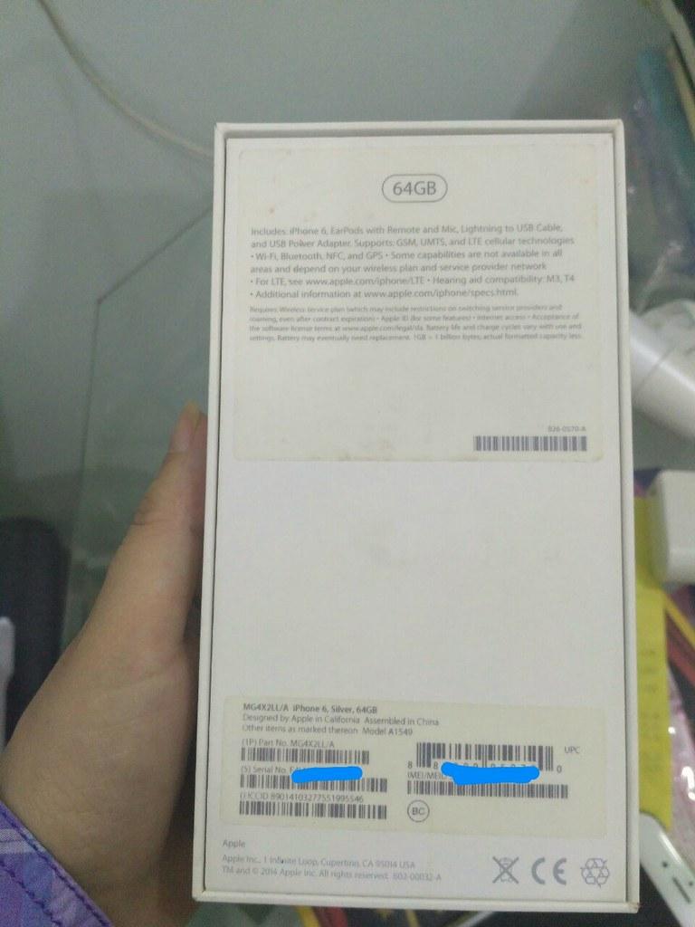 iPhone 6 64GB Silver Quốc tế, fullbox, máy đẹp, giá tốt