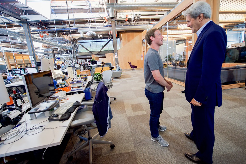 Secretary Kerry And Facebook Ceo Zuckerberg Chat Before Th