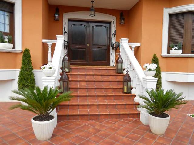 Escaleras entrada casa villa tenorio 1 flickr photo - Escaleras para casa ...