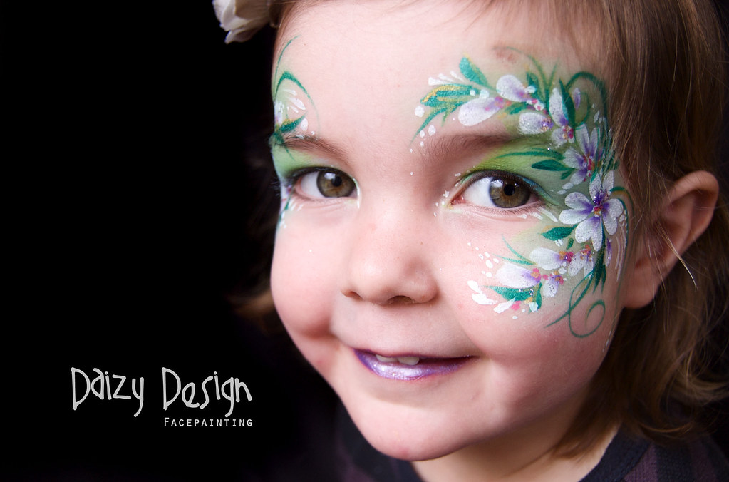 face painting flowers daizy design face painting www
