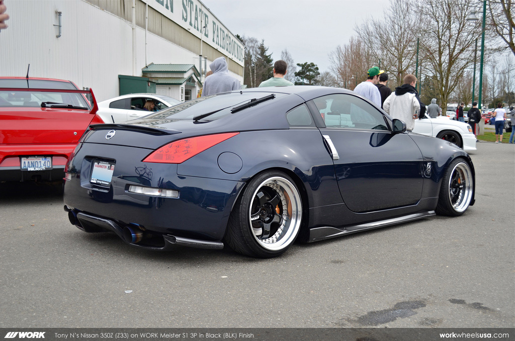 Tony N s Nissan 350Z Z33 on WORK Meister S1 3P 18 quot BLK