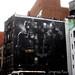 Batman VS Bane Painted Wall Mural on Lafayette Street NYC 6530