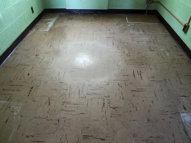Asbestos Floor Tile Wear Damage Example 1 Flickr Photo Sharing