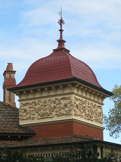 The Ornamental Tower of a Queen Anne Mansion - Ballarat
