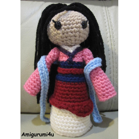 Amigurumi Disney Patronen : Mulan Disney Princess Handmade Amigurumi Crochet Doll Flickr