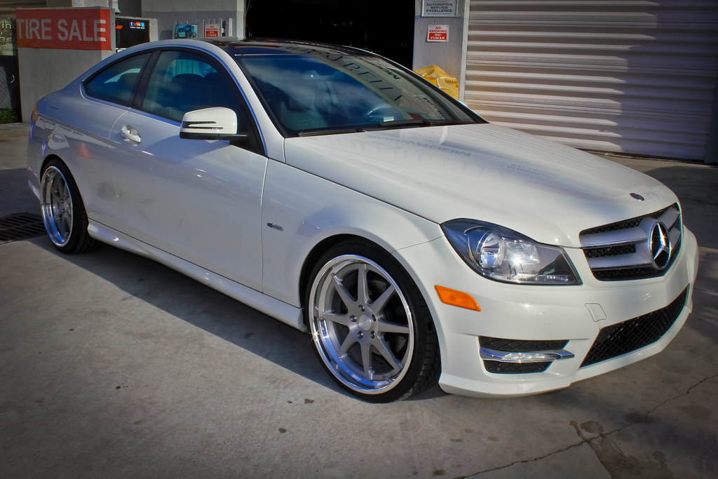 2012 mercedes c250 nessen forged s8 0 19 lowered h r spri for R h mercedes benz