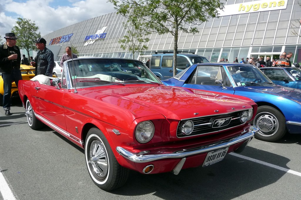 beautiful ford mustang seen at la roche sur yon monthly