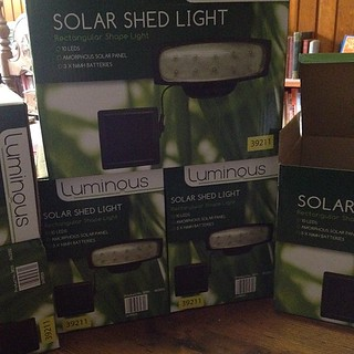 A very good solar light. Have installed  6 so far with these 6 to go. Let There Be Light! :) | by Gaye Crispin