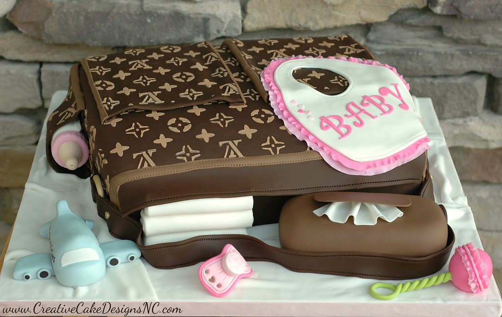 Diaper Bag Shower Cake