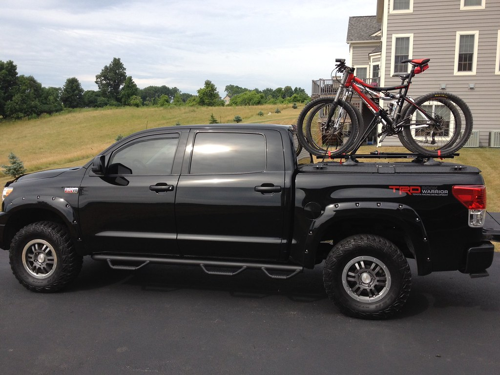 A Black Toyota Tundra With A Black Diamondback Se With Bi