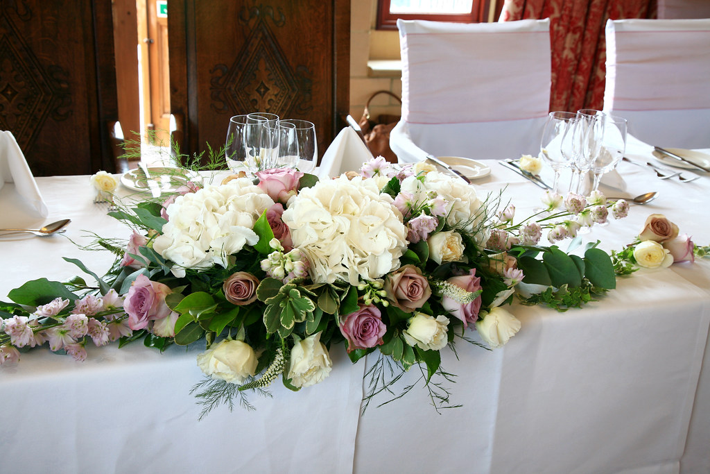 Wedding Flowers For Venue : Wedding flowers venue head table decoration
