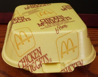 1990s (early) Chicken McNuggets 6 Piece styrofoam box | by daniel85r