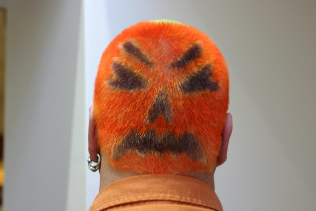 Jack O Lantern Hair From Halloween From 2007 Or 2008 Mayhem Chaos Flickr