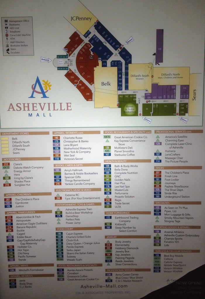 Asheville Mall Map All sizes | Asheville Mall Directory | Flickr   Photo Sharing! Asheville Mall Map