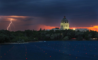 Lightning over Wascana | by Harry2010