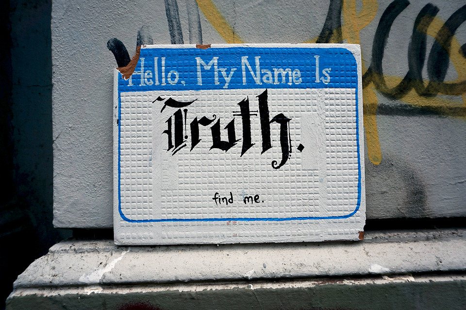 Street Art Hello my name is