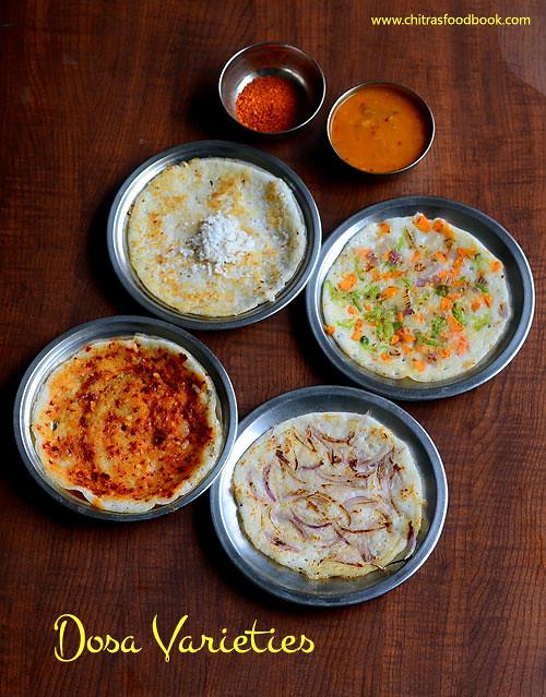 Dosa varieties South Indian