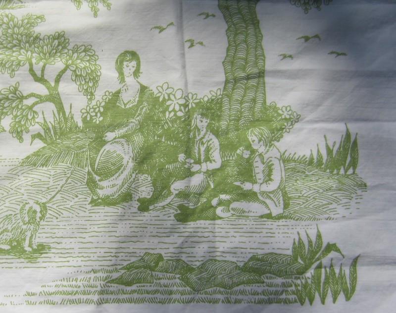 green toile de jouy pattern pillow case green toile de jou flickr. Black Bedroom Furniture Sets. Home Design Ideas